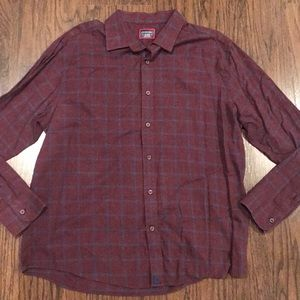 Men's Wine Colored UnTuckIt Shirt Size XL